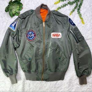 Vintage USAF MA-1 Flight Jacket Custom Patches
